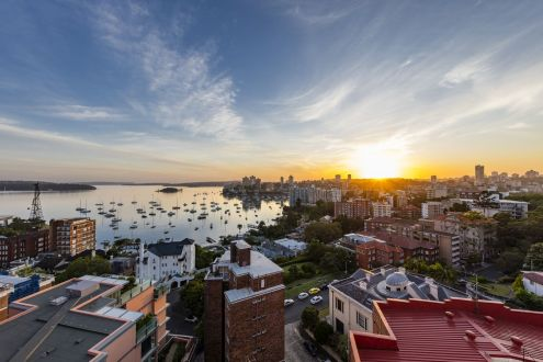 View over the Elizabeth Bay From The Macleay in Potts Point
