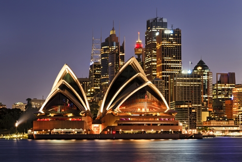 Sydney Opera House at Night located near The Macleay Hotel in Potts Point