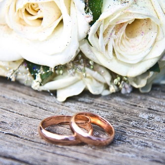 Two wedding rings side by side