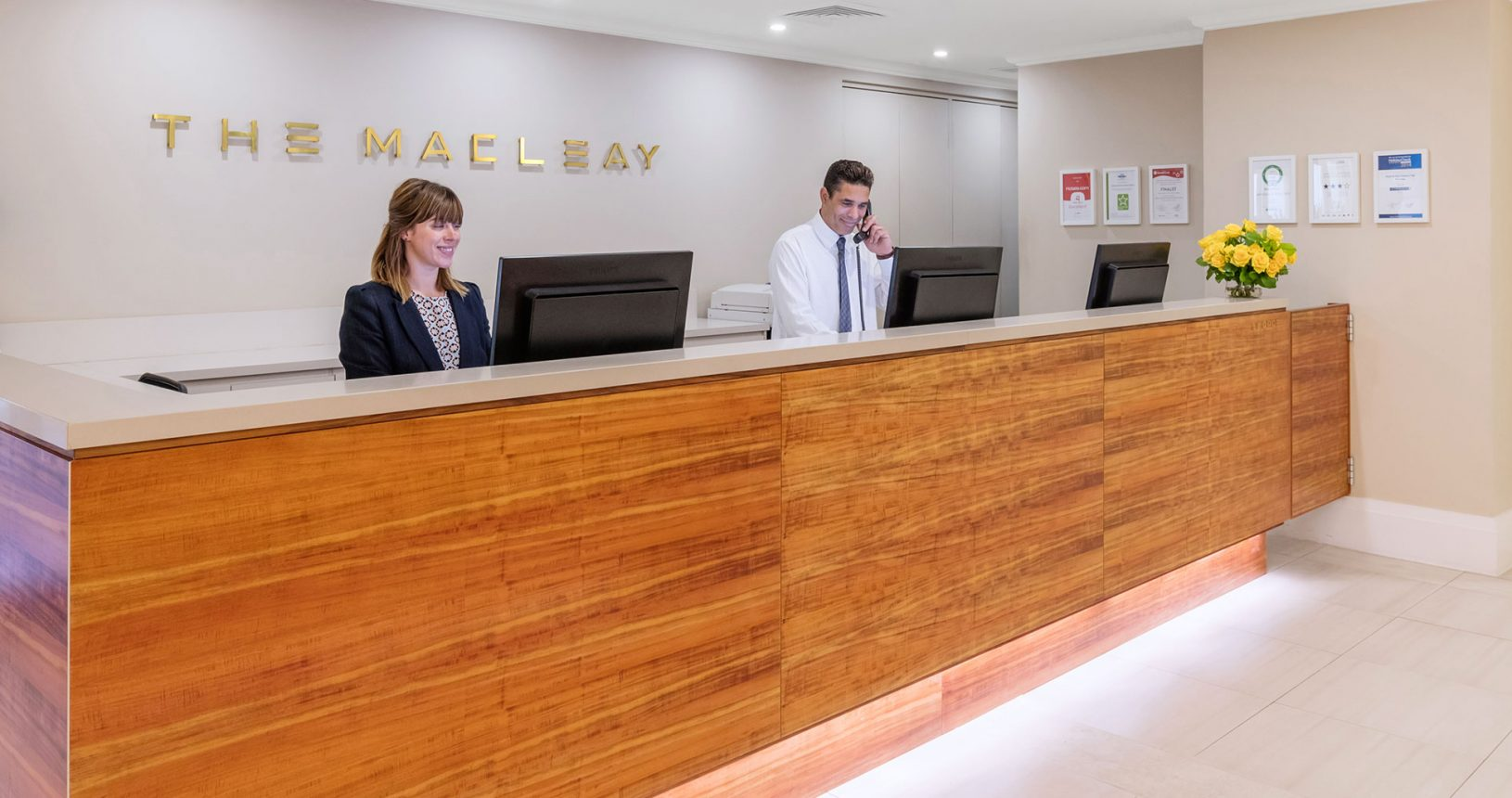 The Macleay Hotel Reception on Macleay street