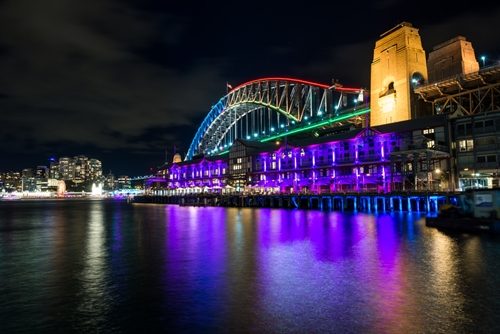 Vivid Sydney festival near The Macleay at Potts Point