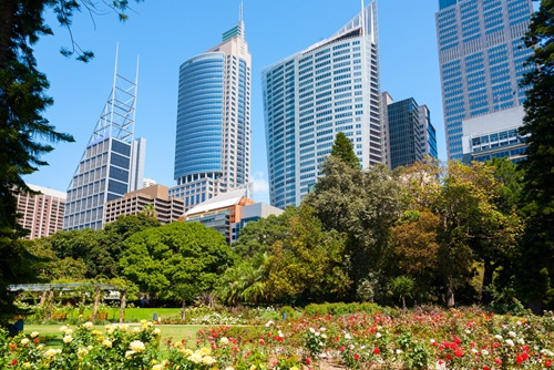 Urban Park only a short stroll from The Macleay Hotel in Sydney